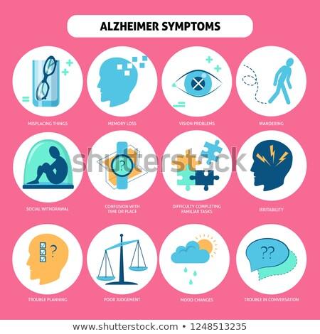 alzheimer disease icon set Stock photo © bspsupanut