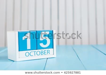 Cubes calendar 15th October Stock photo © Oakozhan