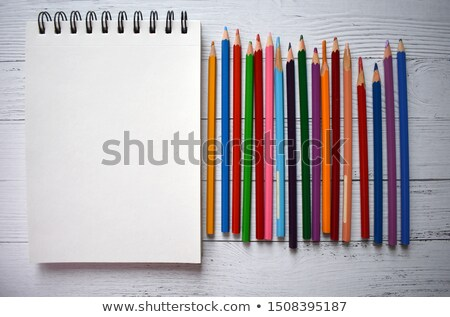 white background with colorfull pencils in studio Stock photo © Lopolo