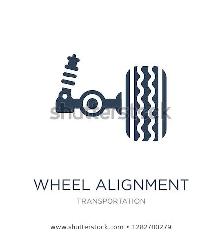автомобилей подвеска службе колесо икона весны Сток-фото © gomixer