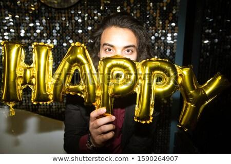 Feliz jovem morena masculino dourado Foto stock © pressmaster