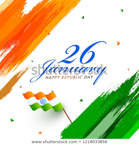 Stylish indian Republik Tag wellig Design Stock foto © SArts