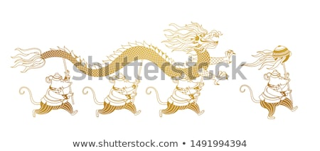 Background design with rats in chinese costume Stock photo © bluering
