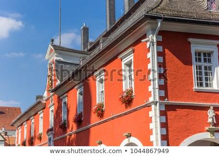 ратуша Германия исторический центр дерево город Сток-фото © borisb17