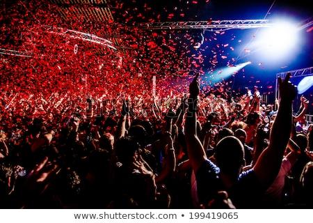 Siluet festival olay kalabalık kırmızı siyah Stok fotoğraf © elaine