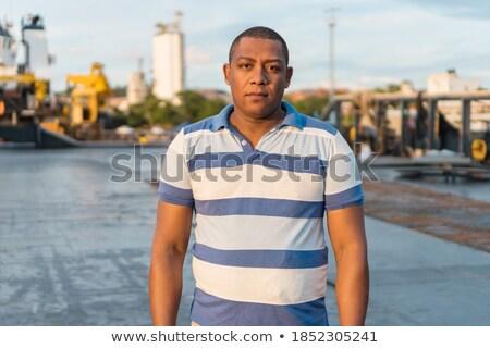 Ao ar livre horizontal retrato agradável olhando elegante Foto stock © vkstudio