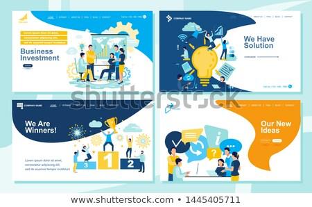Zarządzania lądowanie strona zdalnego edukacji internetowych Zdjęcia stock © RAStudio