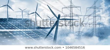 ソーラーパネル 風力タービン 電気 技術 ケーブル 産業 ストックフォト © elxeneize