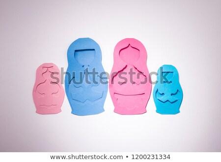 семьи форме кукол бумаги Сток-фото © butenkow