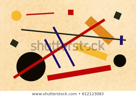 Abstract suprematism composition, horizontal flat illustration on old canvas Stock photo © evgeny89