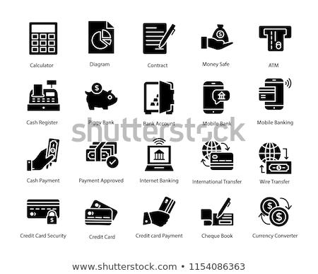 Betaling methode vector icon geïsoleerd witte Stockfoto © smoki