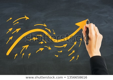 Purpose Following Arrow Concept On Blackboard Stock photo © ivelin