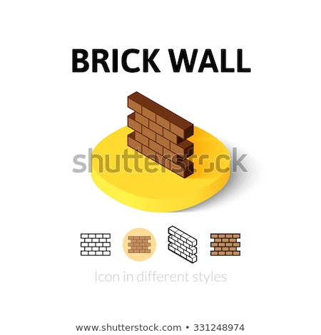 Bricklayer Industry Isometric Icons Set Vector Stock photo © pikepicture