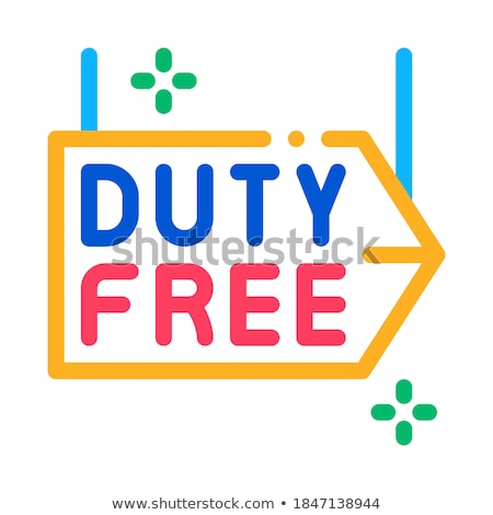 duty free pointer icon vector outline illustration Stock photo © pikepicture