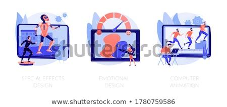 Video postproduction vector concept metaphors Stock photo © RAStudio