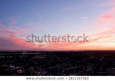 Antena Fotografia ptaków oka widoku urban scene Zdjęcia stock © amok