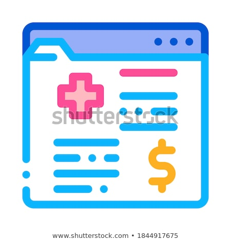 medical card in paid hospital icon vector outline illustration Stock photo © pikepicture