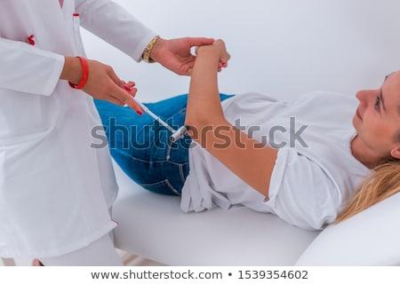 Arts omhoog jonge meisjes hamer meisje Stockfoto © Elnur