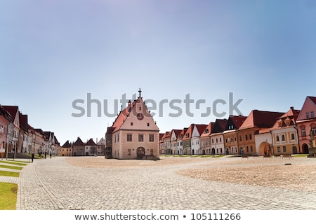 старый город зале Словакия центральный квадратный небе Сток-фото © borisb17