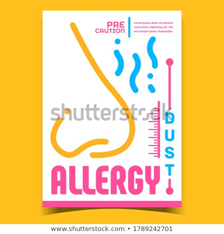 Dust Allergy Creative Advertising Banner Vector Stock photo © pikepicture