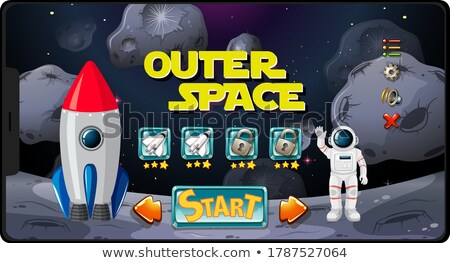 Outer space mission game on tablet screen Stock photo © bluering