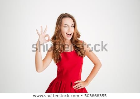 Belo elegante mulher jovem isolado branco Foto stock © alexandrenunes
