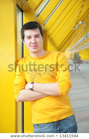 young asian boy stand on footbridge Stock photo © Paha_L