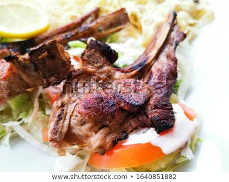 porterhouse juicy steak with fresh green beans Stock photo © ilolab