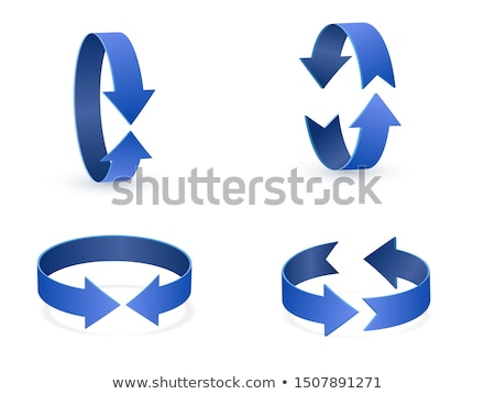 Stock photo: symbol of rotation with arrow