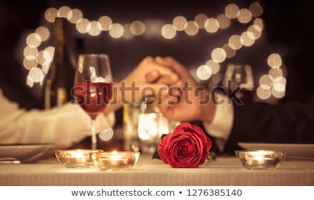 Couple enjoying a romantic evening together Stock photo © photography33