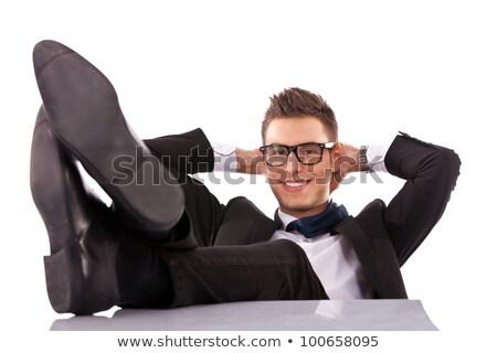 üzletember elvesz törik asztal iroda munkás Stock fotó © photography33