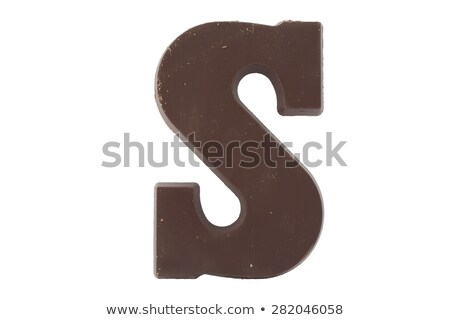 the letter S from chocolate Stock photo © compuinfoto