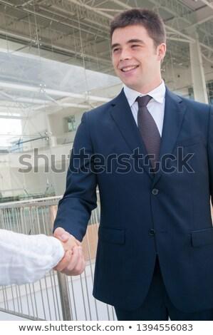 Empresários provérbio adeus corredor jovem negócio Foto stock © wavebreak_media