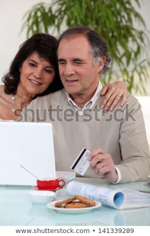 buena · línea · ordenador · Internet · hombre - foto stock © photography33
