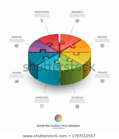 Circle Puzzle Chart Stock photo © cteconsulting