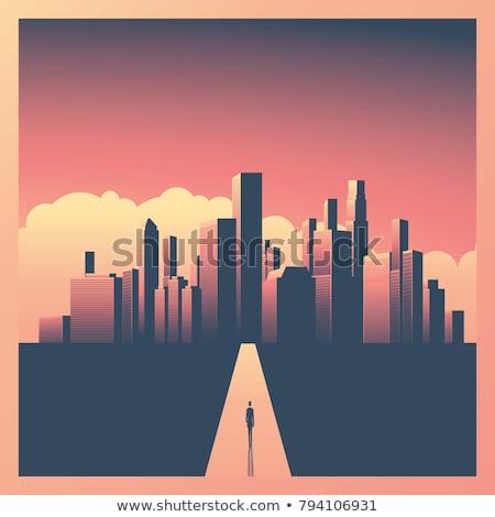 パス 市 空 雲 自然 背景 ストックフォト © zzve