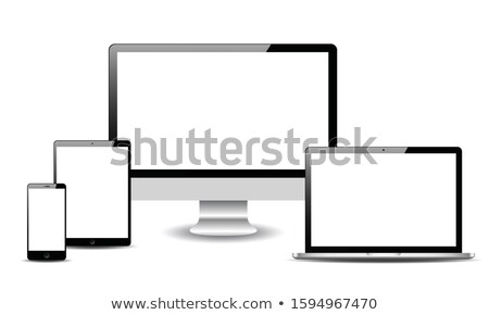 ingesteld · realistisch · display · mobiele · telefoon · sjabloon - stockfoto © fotoscool