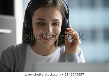 Chamar mulher boca telefone Foto stock © jayfish