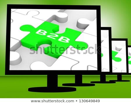B2b scherm commerce online tonen Stockfoto © stuartmiles