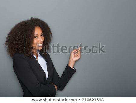 черный деловой женщины указывая черную женщину бизнеса Сток-фото © zdenkam
