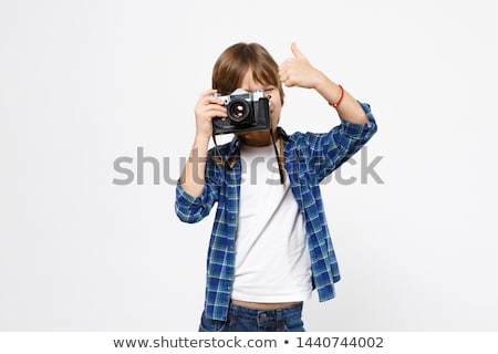 Little boy taking photos Stock photo © icefront