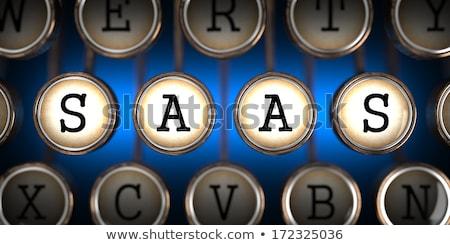 PAAS on Old Typewriter's Keys. Stock photo © tashatuvango