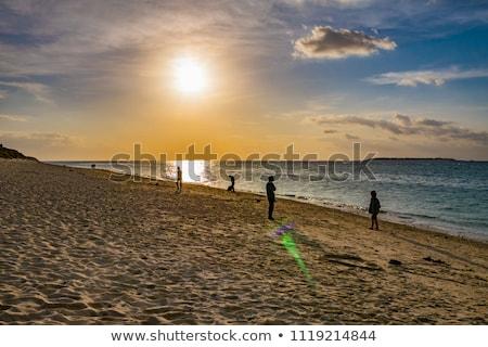 Stock photo: Evening beach of Okinawa