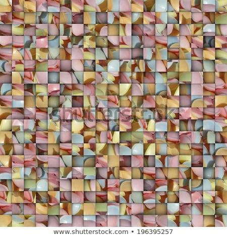 Vierkante mozaiek fruit kleur snoep achtergrond Stockfoto © Melvin07