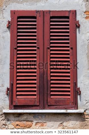window shutters chipped wall Stock photo © sirylok