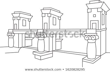 Rivier Slovenië beroemd architect gezicht muur Stockfoto © kasto