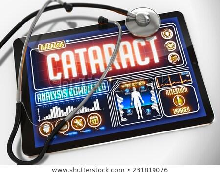 Szürkehályog kirakat orvosi tabletta diagnózis fekete Stock fotó © tashatuvango