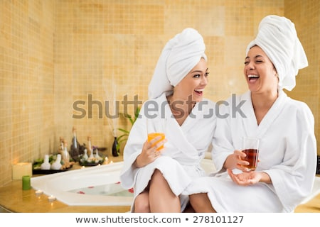 Woman sitting at beauty spa salon Stock photo © HASLOO