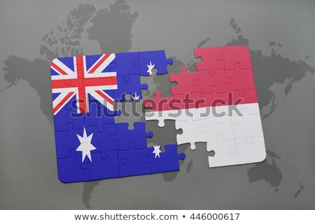 Indonesia and Australia Flags in puzzle  Stock photo © Istanbul2009