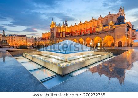 Kilise krakow ana pazar kare tan Stok fotoğraf © 5xinc